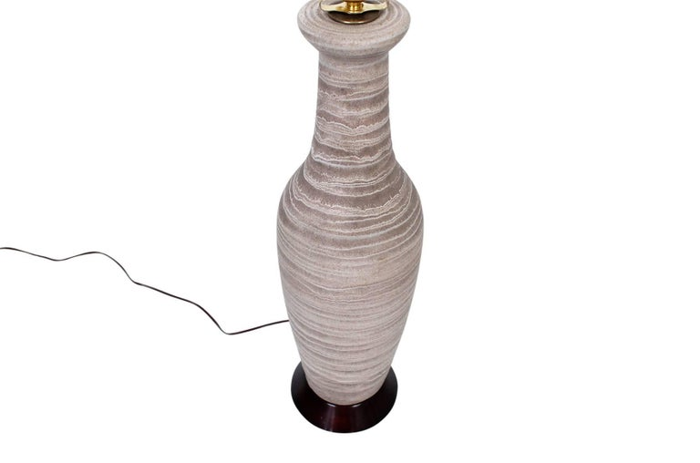 Mid-20th Century Large Pair of Pottery Table Lamps by Design Technics For Sale