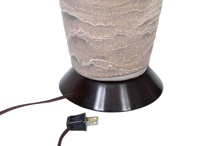 Large Pair of Pottery Table Lamps by Design Technics For Sale 3