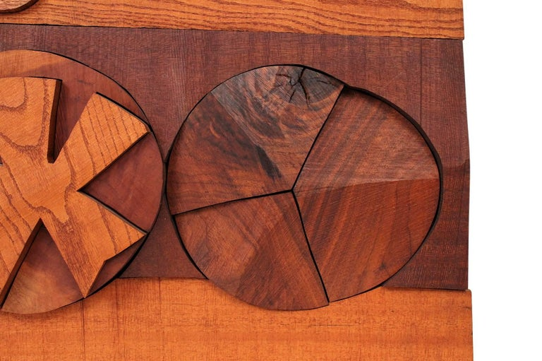 Hugh Townley Abstractly Carved Wood Relief Sculpture For Sale 1
