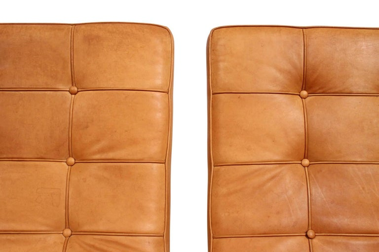 Pair of Leather Lounge Chairs by Nicos Zographos For Sale 2