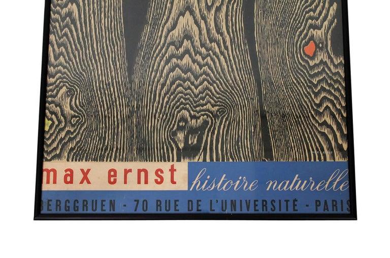 Mid-Century Modern Max Ernst Histoire Naturelle Poster For Sale