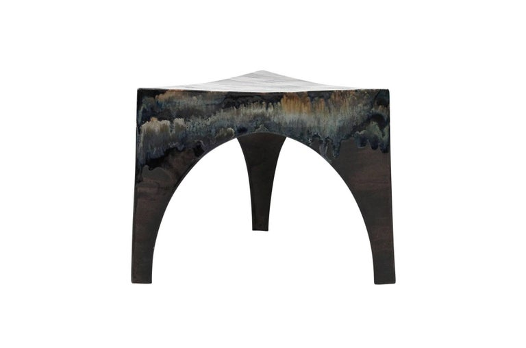 Sculptural Ceramic Stool In Excellent Condition For Sale In Belmont, MA