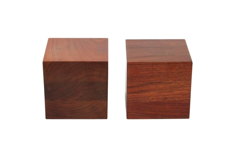 Walnut Martz Bookends In Excellent Condition For Sale In Belmont, MA