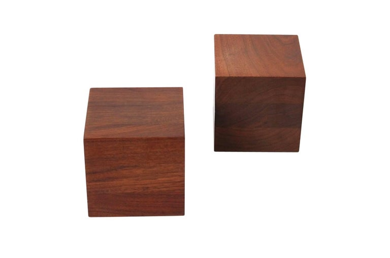 Mid-20th Century Walnut Martz Bookends For Sale