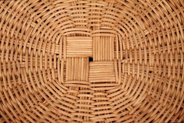 Rare Isamu Kenmochi Rattan Side Table For Sale 3