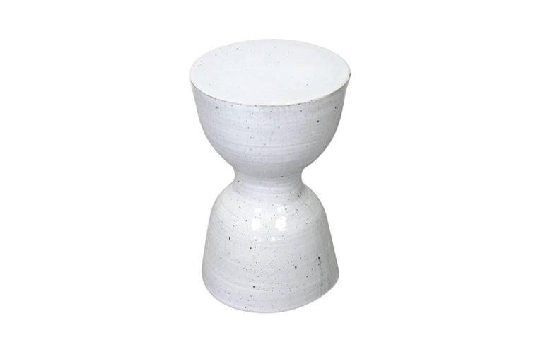 American Large Tariki Ceramic Stool For Sale