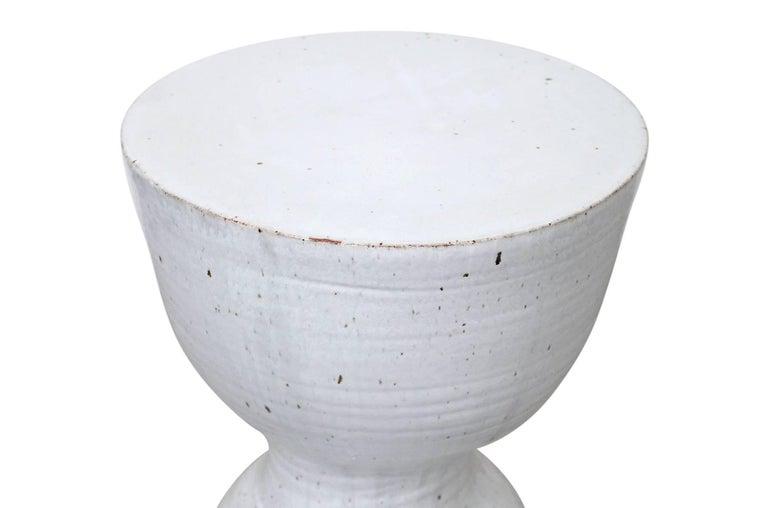 Late 20th Century Large Tariki Ceramic Stool For Sale