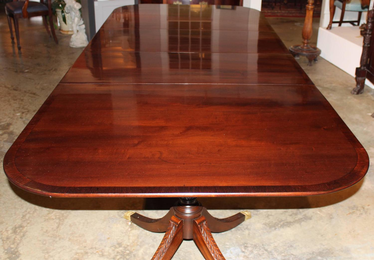 Mahogany Double Pedestal Dining Table By Beacon Hill For Sale At 1stdibs