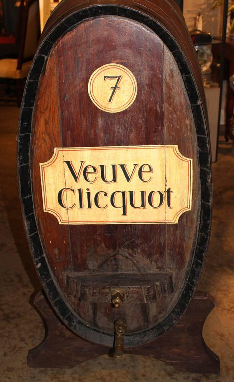 Large French Oak Wine or Champagne Barrel / Cask on Stand at 1stdibs