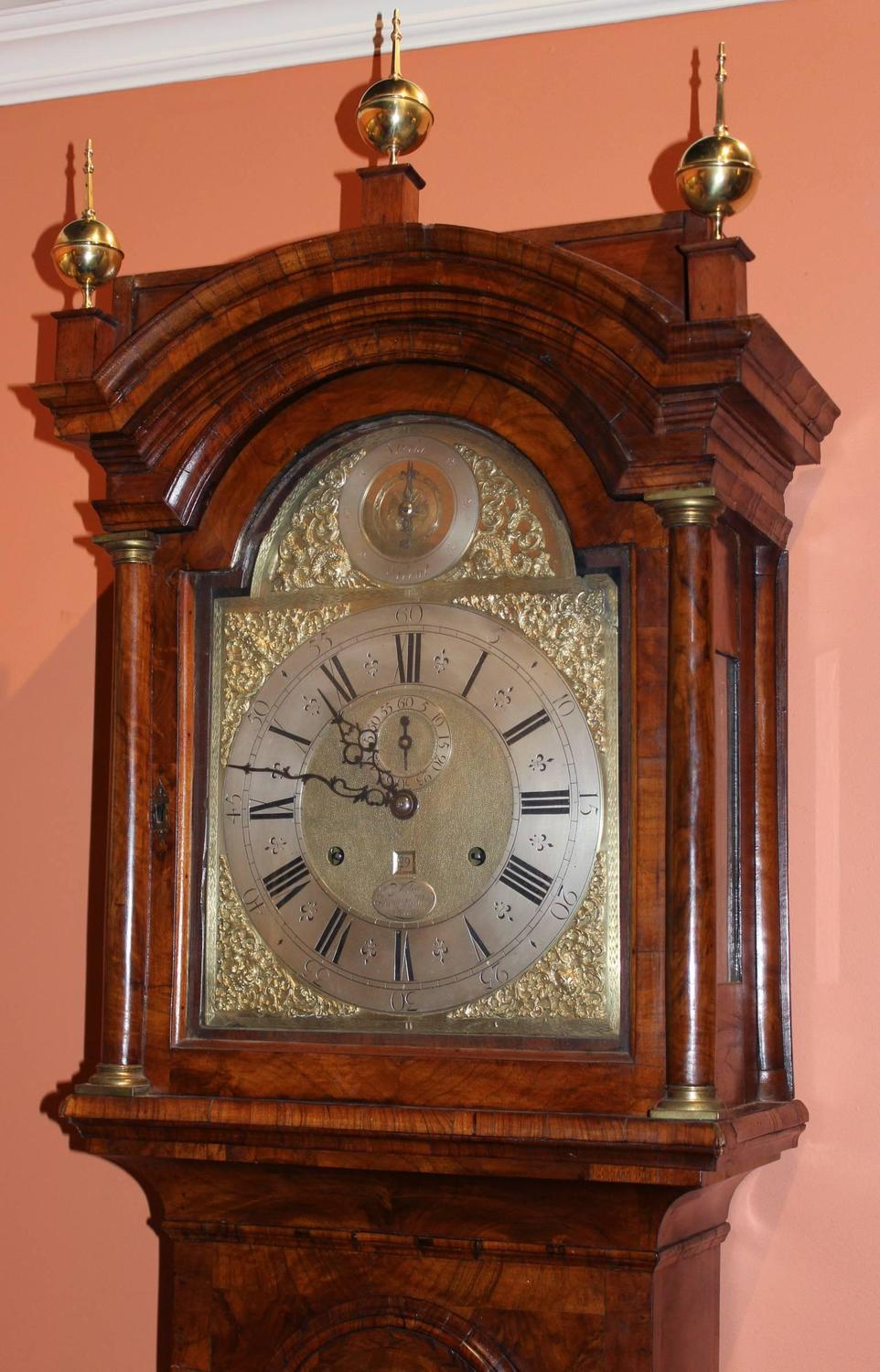 William Webster English Tall Case Clock With Rare 30 Day