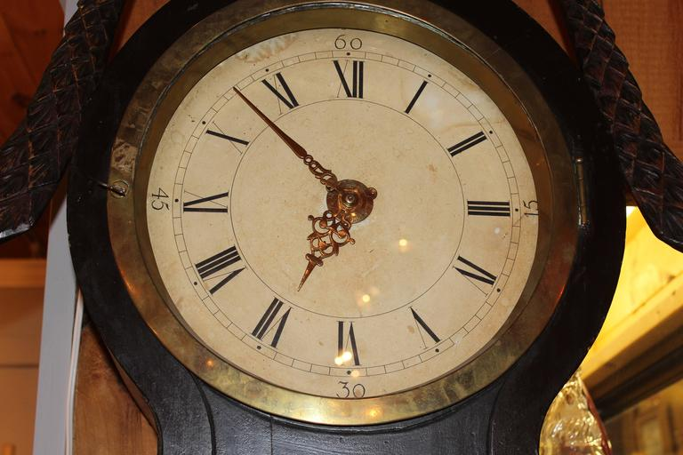 19th Century Swedish Tall Case Clock with Painted Case For Sale 2