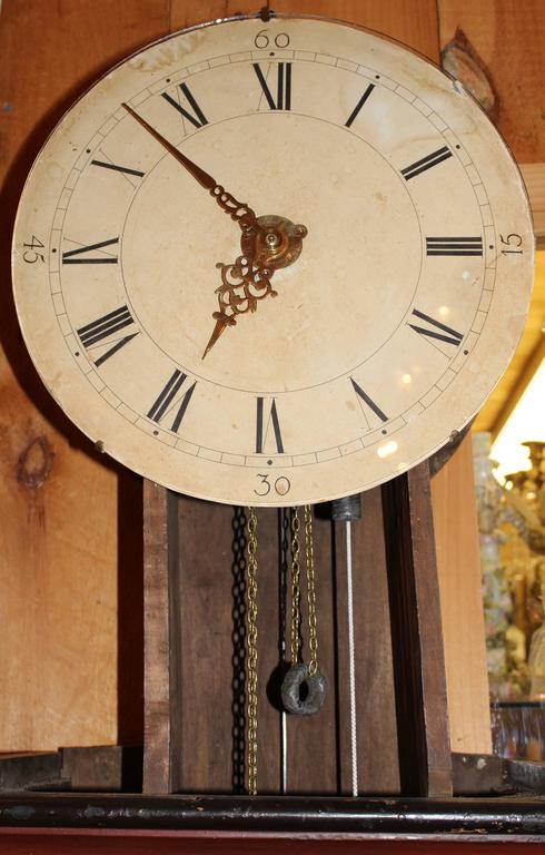 19th Century Swedish Tall Case Clock with Painted Case For Sale 5