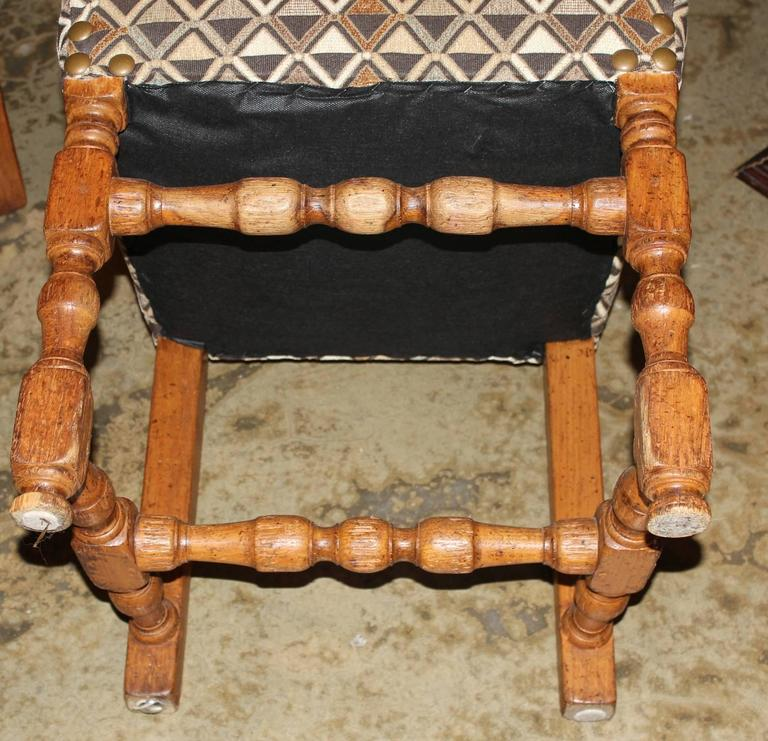 Assembled Set of Four 19th Century French Provincial Walnut Dining Chairs For Sale 1