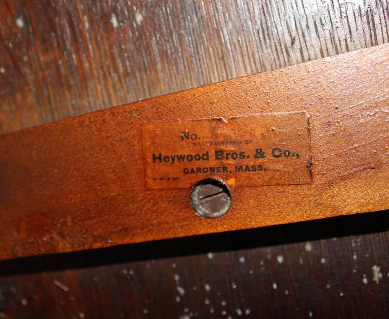 It's just a graphic of Challenger Heywood Wakefield Furniture Labels