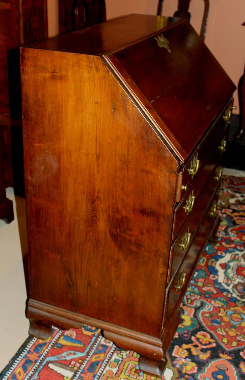 18th Century Chippendale Slant Front Desk With Secret Compartments For Sale At 1stdibs