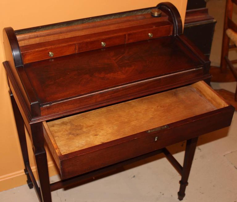 American Shaw Furniture Co Petite Roll Top Writing Desk Cambridge Ma Circa 1920 For