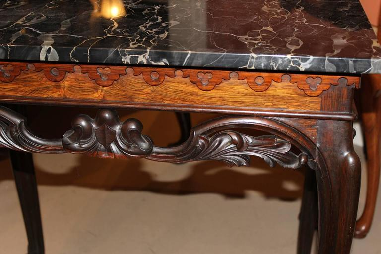 19th Century English Carved Rosewood Mixing Table With