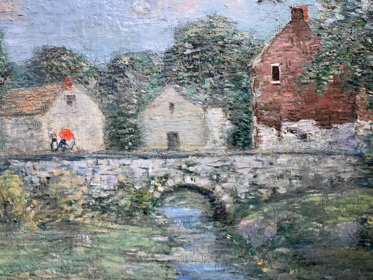 Paul Bernard King Pennsylvania Impressionist Oil Painting, Artists Bridge 3