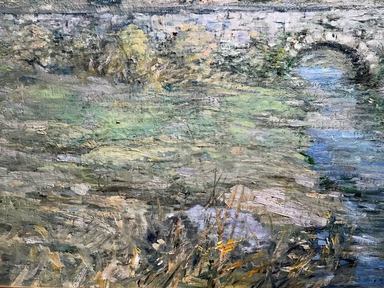 Paul Bernard King Pennsylvania Impressionist Oil Painting, Artists Bridge 4