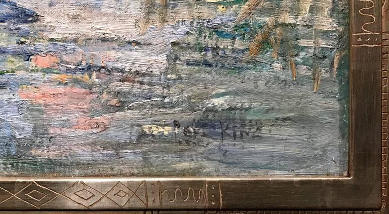 Paul Bernard King Pennsylvania Impressionist Oil Painting, Artists Bridge 5