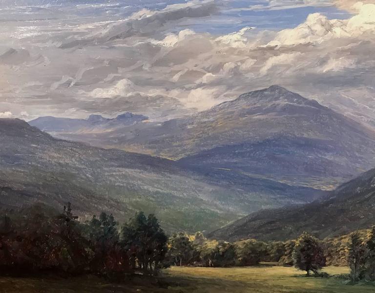 "Erik Koeppel NH White Mountain Landscape ""Mt. Washington Beneath the Clouds"" 3"