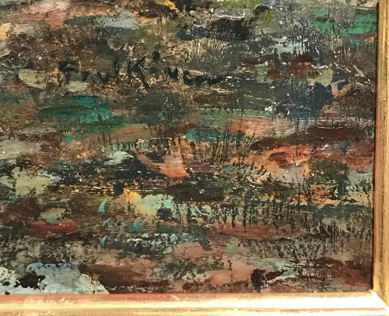 Paul Bernard King Coastal Marine Oil Painting, Harbor Scene For Sale 1