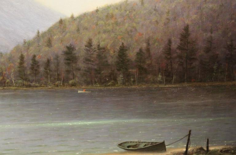 20th Century William R. Davis Oil Painting Clearing Storm, Echo Lake, Franconia, NH For Sale
