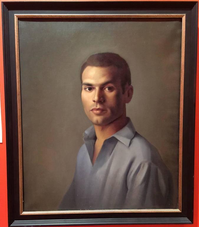 Luigi Lucioni Oil Painting Portrait of a Young Man 2