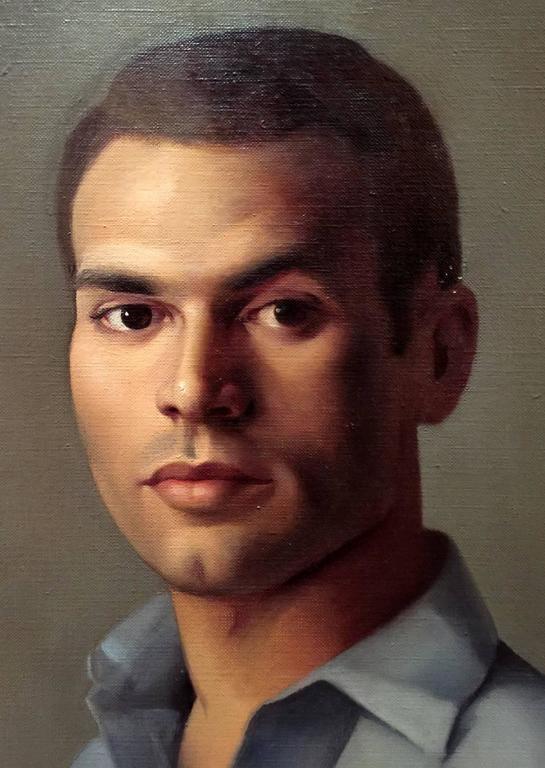 Luigi Lucioni Oil Painting Portrait of a Young Man 3