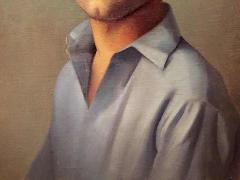 Luigi Lucioni Oil Painting Portrait of a Young Man 4