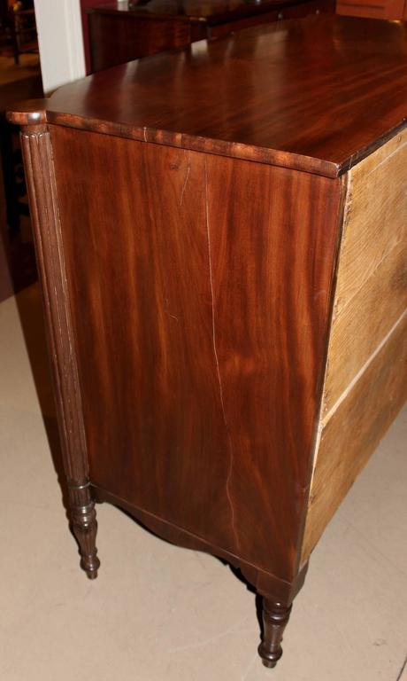 Federal Sheraton Bow Front Four Drawer Chest Portsmouth