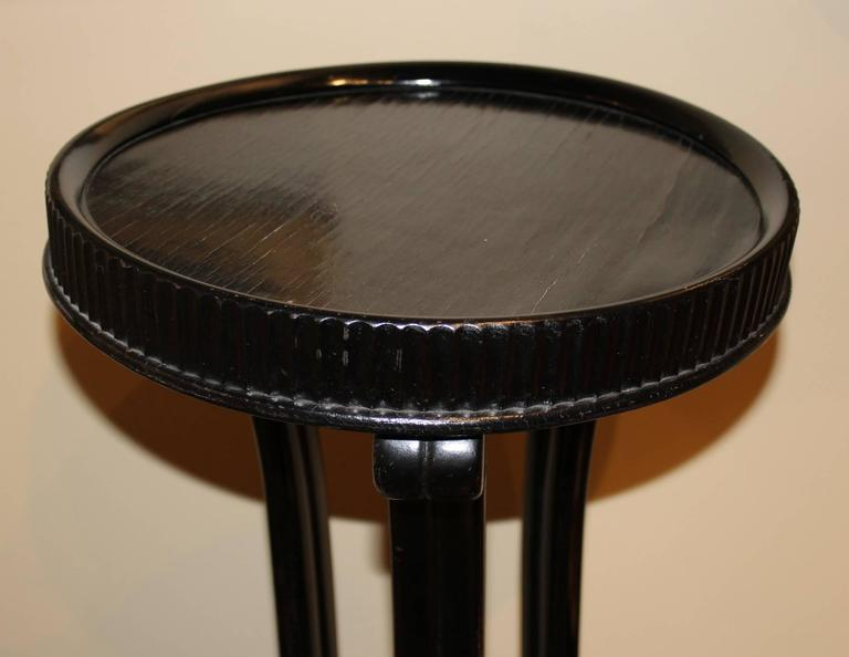 Ebonized Wooden Pedestal Designed by Otto Prutscher for Thonet In Good Condition For Sale In Milford, NH