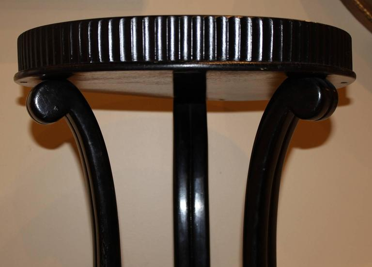Beech Ebonized Wooden Pedestal Designed by Otto Prutscher for Thonet For Sale
