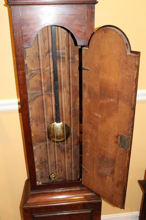18th Century English Mahogany Tall Clock By William Strickland Tenterden At 1stdibs