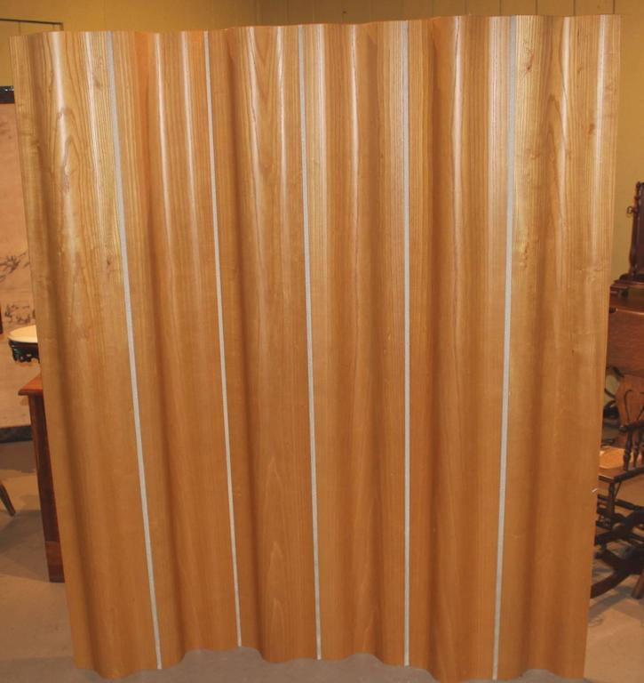 Eames Birch Plywood Six Panel Folding Screen for Herman Miller at