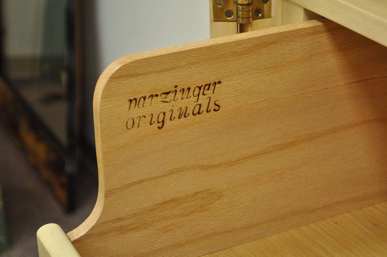 American Tommi Parzinger for Parzinger Originals Bleached Elm Armoire or Wardrobe Cabinet For Sale