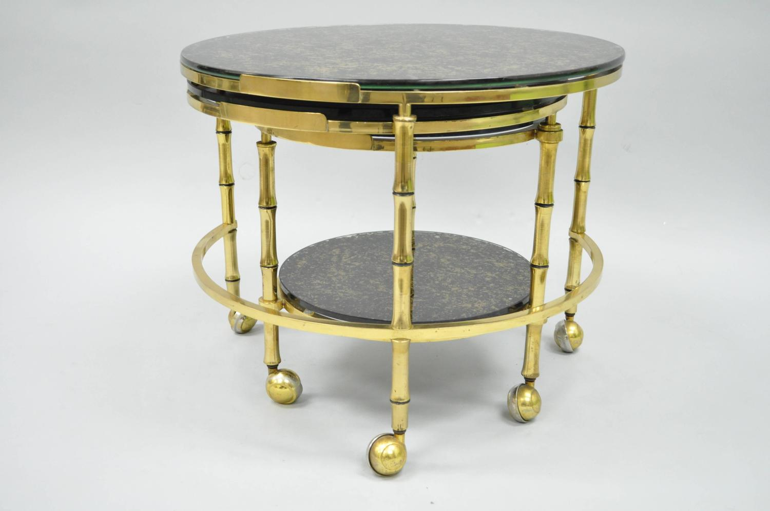 And Gold Flecks Glass Faux Bamboo Nesting Expansion Cocktail Table . Full resolution  photo, nominally Width 1500 Height 996 pixels, photo with #948C37.