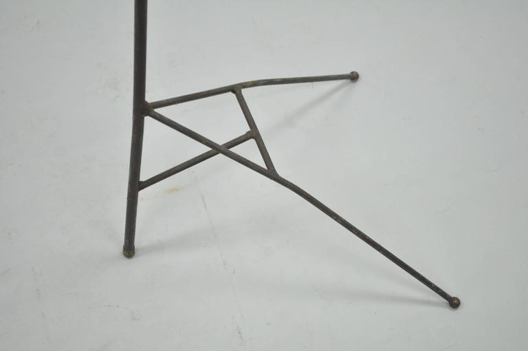 Brass Mid-Century Modern Wrought Iron Modernist Hairpin Valet after Jacques Adnet For Sale