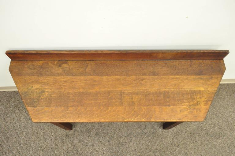 Rare Limbert One-Drawer Mission Oak Console Table with Backsplash, circa 1910 For Sale 1