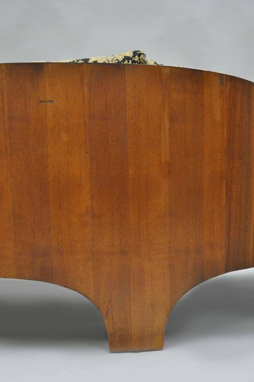 Plywood Henry P Glass Sculptural Intimate Island Suite Walnut Curved Sofa For Sale