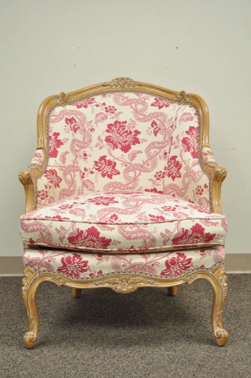 20th Century Finely Carved French Louis XV Style Bergere Lounge ...