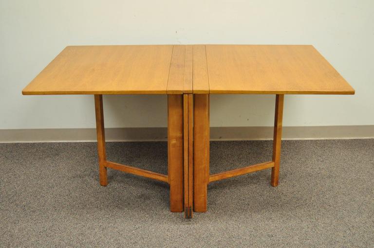Bruno Mathsson Gate Leg Maria Expandable Gateleg Teak And Birchwood Dining  Table 3