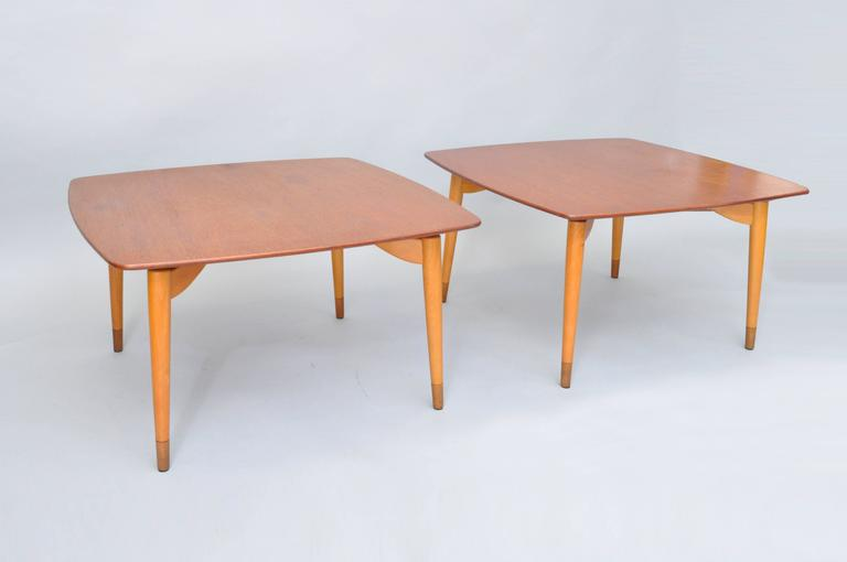 Mid-Century Danish Modern Teak Wood Grete Jalk P. Jeppesens Square Coffee Table For Sale 4