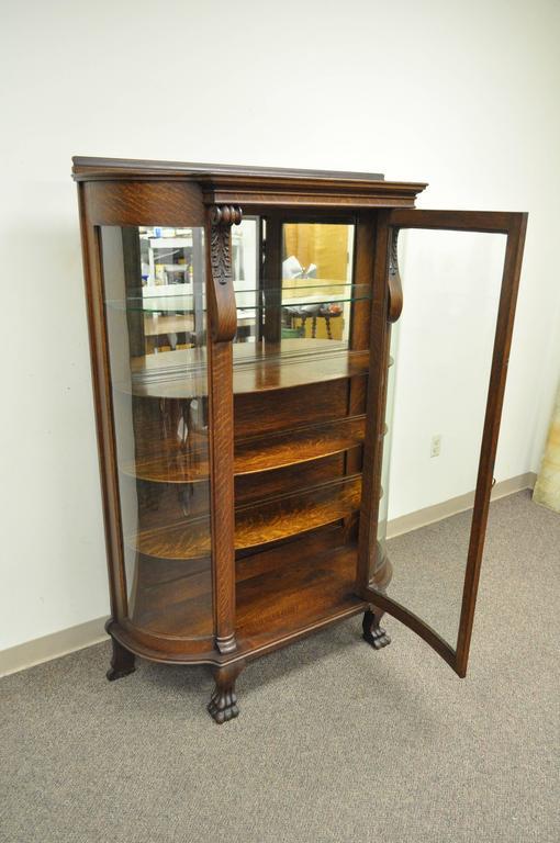 Antique Oak Glass Front China Cabinet Imanisr Com