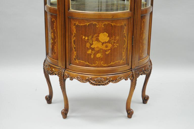 Small French Louis XV Style Curio Vitrine Display Case