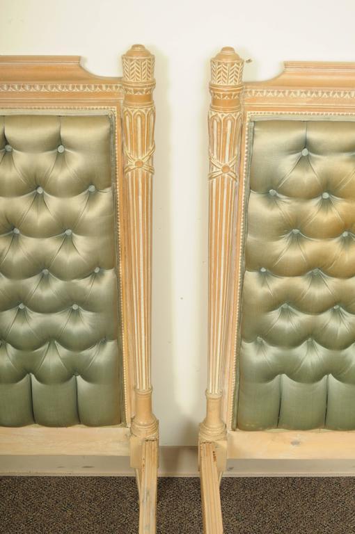 Pair Of Italian Carved French Neoclassical Style Twin Beds