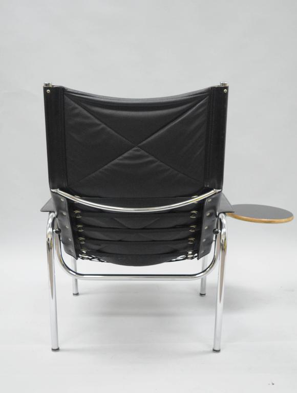 Hans Eichenberger For Strassle Chrome Reclining Leather