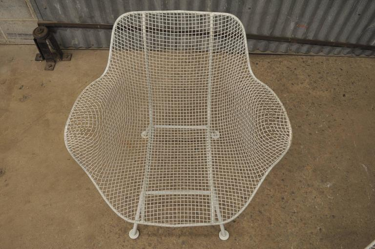5 Piece Russell Woodard Sculptura Patio Dining Set 4 Armchairs Metal Wire Mesh For Sale At 1stdibs