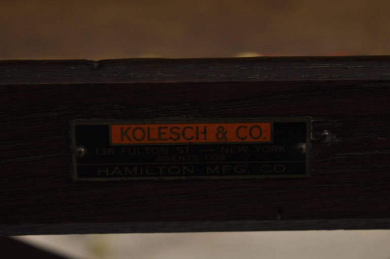 Oakwood Furniture Mfg ~ Kolesch and co hamilton mfg oakwood cast iron drafting