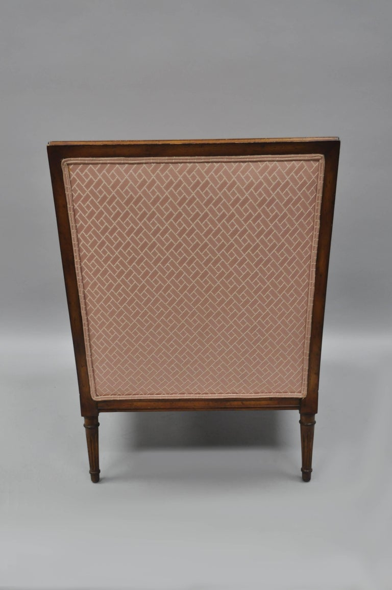 French Louis XVI Directoire Style Cane Bergere Armchair Carved Walnut Frame For Sale 5